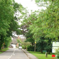 Approaching Crick village